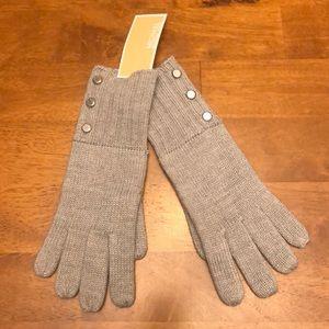 NWT gray Michael Kors knit gloves